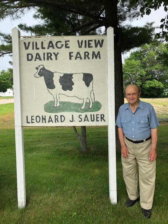 Leonard Sauer has been farmer his whole life.