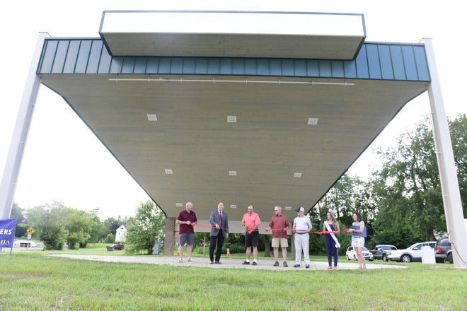 The new amphitheater at the Black Fork Commons in Shelby was officially opened Thursday.