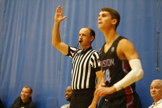 "At Peach Jam, Keith Patterson is auditioning to advance in the world of college basketball officiating. ""I'm knocking on the door of where I want to be,"" he said."