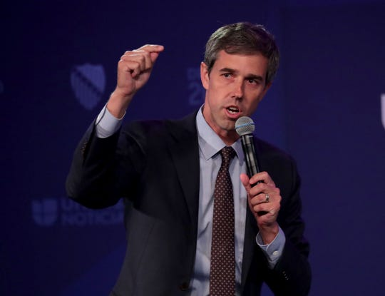 Former Texas Congressman Beto O'Rourke speaks.