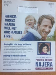 A mailer supporting the campaign of Patricia Torres Najera for the District 13 aldermanic seat lists Leadership MKE as the group that paid for the campaign literature.
