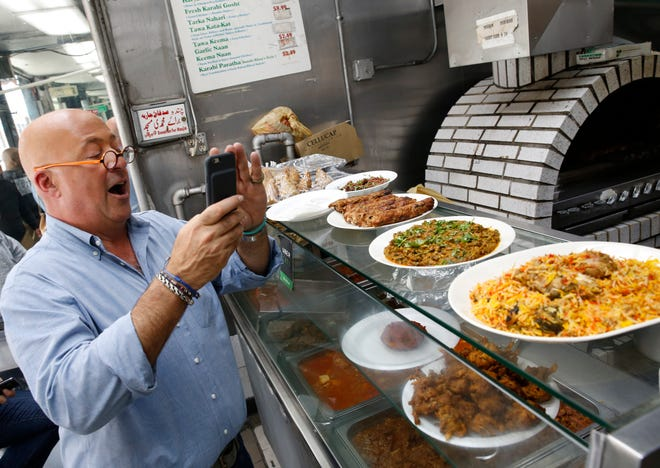 """Culinary maven Andrew Zimmern filmed part of this week's episode of his MSNBC series """"What's Eating America"""" at Lakefront Brewery in Milwaukee."""