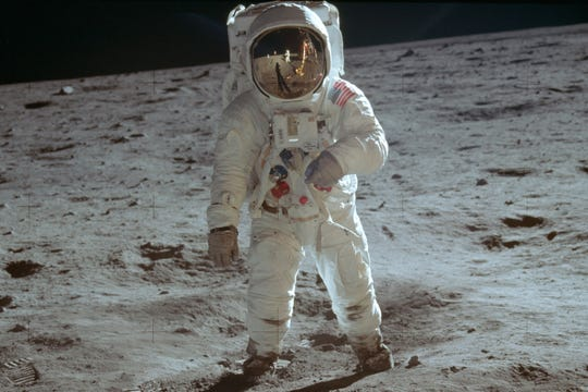 Saturday's the 50th anniversary of man first walking on the moon. That calls for a party, or two.