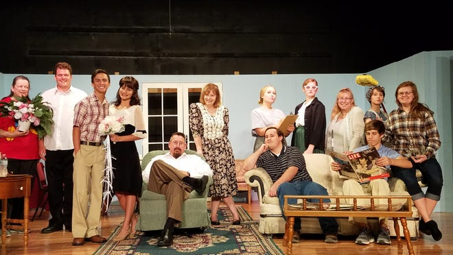 The cast of Father of the Bride is shown at the Twin Lakes Playhouse. Father of the Bride opens July 19and runs through Aug. 4. Showtimes are Friday and Saturday evenings at 7p.m.and Sunday matinees at 2p.m.