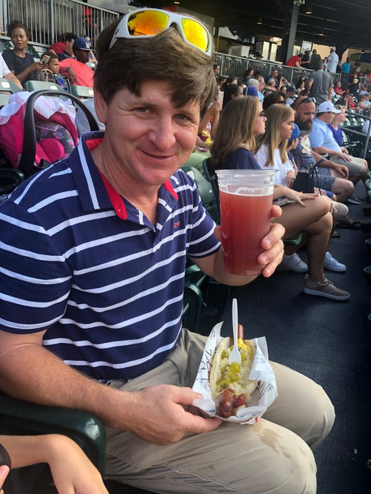 Ice cold Raspberry beer by TrimTab, beats the heat in Riverwalk Stadium.
