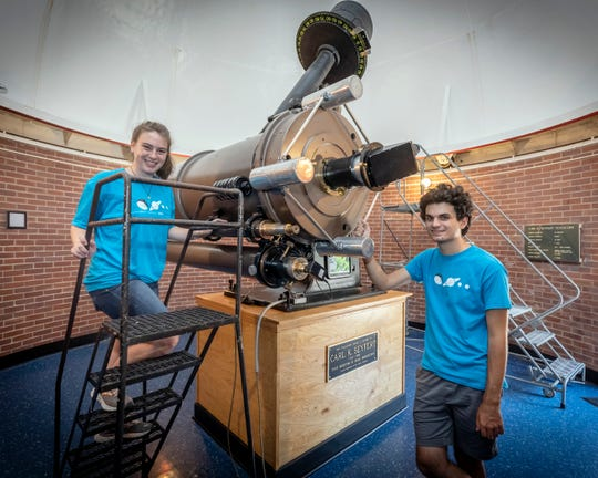 Williamson County residents Grace Calhoun and Michael Palmaccio, space camp counselors at Dyer Observatory, were inspired to pursue higher education in the sciences. Calhoun is an astrophysicist and Palmaccio is currently pursuing a degree in astrophysics.