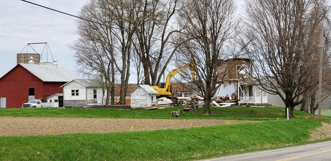A farmhouse on Harrison Road was torn down in the spring.