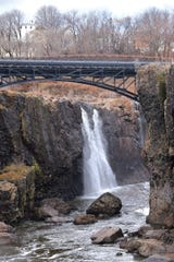 With very little rain fall the last few months the sign is evident at the Paterson Falls in Paterson January 04, 2017.