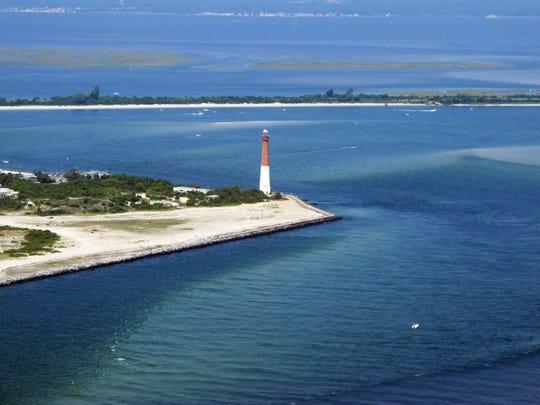 Barnegat Lighthouse in Barnegat Light, N.J., part of Long Beach Island.