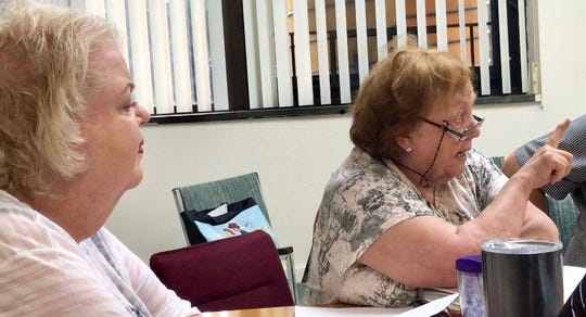 Advisory Committee for Individuals with Disabilities Chair Colleen Murray and Vice Chair Marilyn Rowan at June committee meeting.