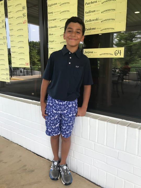 Reid Jarjosa, 11, led the way in the developmental division with a 64.