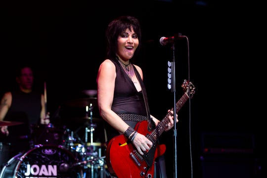 Joan Jett & The Blackhearts on stage in 2019. Photographers were not allowed at the FedExForum show.