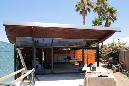 Renovations continue on the historic Palm Desert Wave House on Thursday, July 11, 2019.