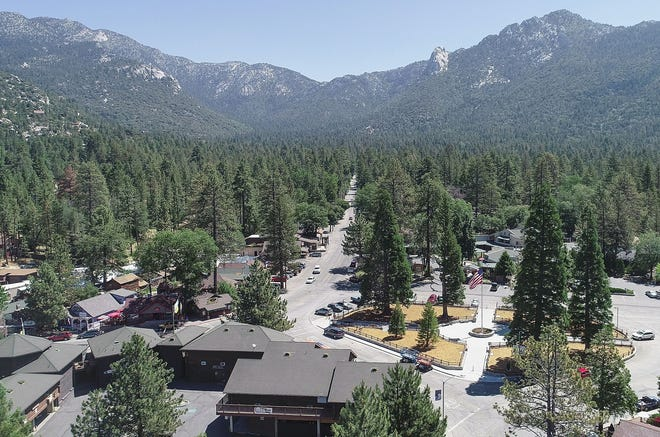 The small moutain community of Idyllwild, Calif. in the San Jacinto Mountains, July 8, 2019.