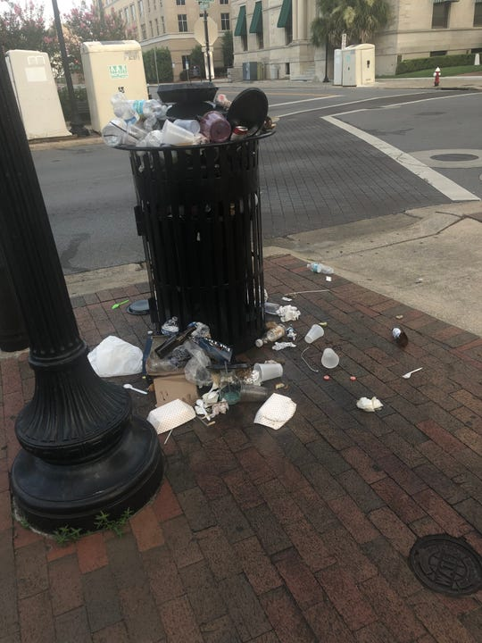 Gallery Night or Gutter Night? Former Pensacola mayoral candidate and city councilmen Brian Spencer captured these photos of Downtown Pensacola the morning after the June 21 Gallery Night. For the privately sponsored event, who is responsible for cleaning up the public streets and sidewalks?