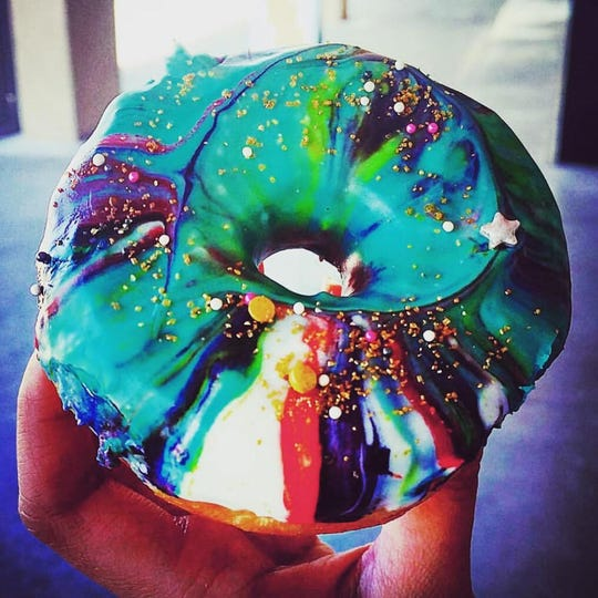 The Galaxy Donut at Alien Donut in Scottsdale is out of this world.