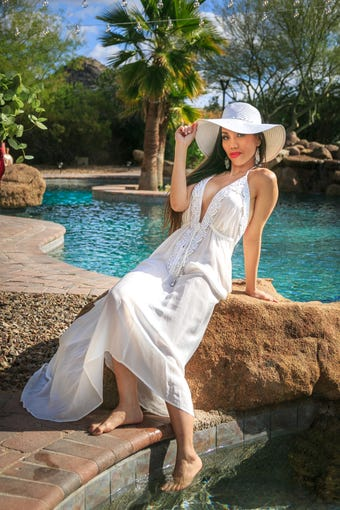 Ariana Vazquez of Wet Haute Couture will show a luxury resort wear collection at the Mexico Under the Skin fashion show.