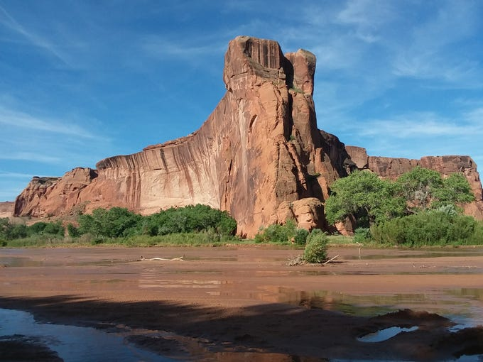 The abundant snowmelt this year has turned Canyon de Chelly into a free-flowing water wonderland.