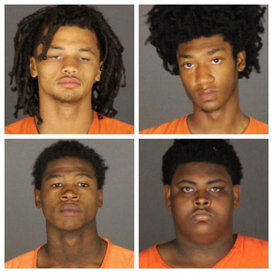 Jaylon Conklin, Khalil Allen, Jaison Evans and Lezzerio Garner are facing multiple charges in relation to a robbery at Kay Jewelers in Fort Gratiot.