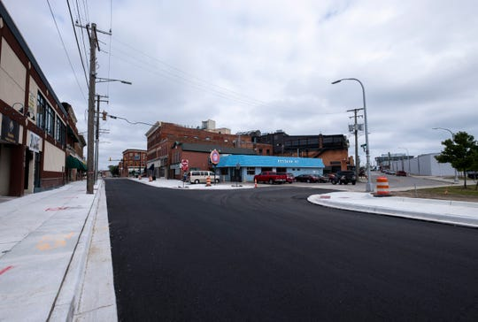 Quay Street from Huron Avenue to Michigan Street has reopened. The project included installing new sidewalks and leveling some areas to be more accessible.