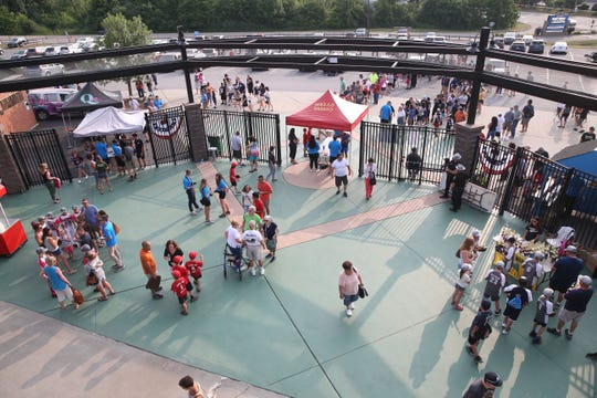The crowd arrives for Champions Night at Dutchess Stadium in Fishkill on July 10, 2019.