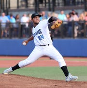 Hudson Valley Renegades pitcher Edisson Gonzalez on the mound during a game last week at Dutchess Stadium. The Renegades were 18-15 entering Saturday.