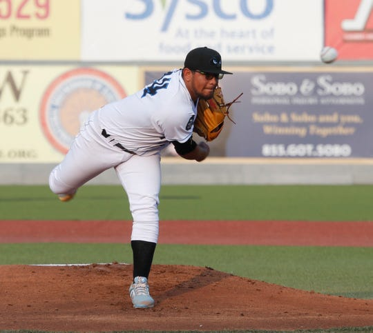 Hudson Valley Renegades pitcher Edisson Gonzalez on the mound during a game at Dutchess Stadium in Fishkill on July 10, 2019.