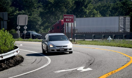 A car exits southbound Interstate 83 at the Glen Rock exit Friday, July 12, 2019. All ramps at the interchange will be closed intermittently Monday, July 15, through Thursday, July 18, for paving. Bill Kalina photo
