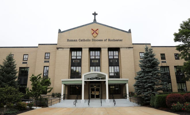 The Roman Catholic Diocese Rochester offices on Buffalo Road in Rochester.