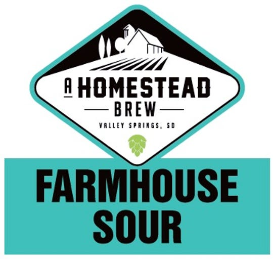 The logo for A Homestead Brew's Barrel Aged Farmhouse Sour. A Homestead Brew is located in Valley Springs