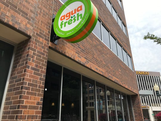 Agua Fresh, a sandwich shop and juice-maker, is set to open in the Docutap building in downtown Sioux Falls in a matter of weeks.