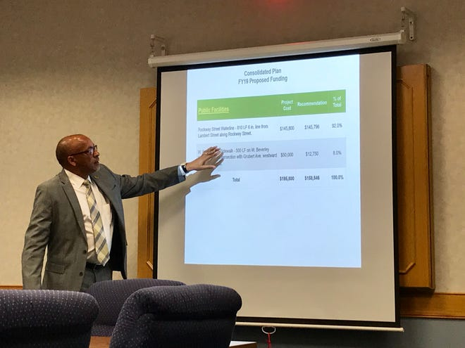 Staunton Director of Economic Development Billy Vaughn answers questions on Tuesday about the city's draft consolidated plan for a federal block grant. During Staunton City Council's work session, Vaughn explained more about the 125-page plan.