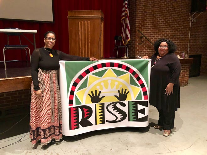 RISE co-founders Sharon Fitz, left, and Chanda McGuffin, right, ran the Kings and Queens Reading and Writing Camp for the second time in 2019.