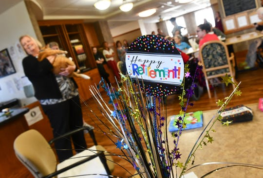 Decorations celebrate the retirement of Parker  during his retirement party Friday, July 12, 2019, at St. Benedict's Senior Community in St. Cloud.