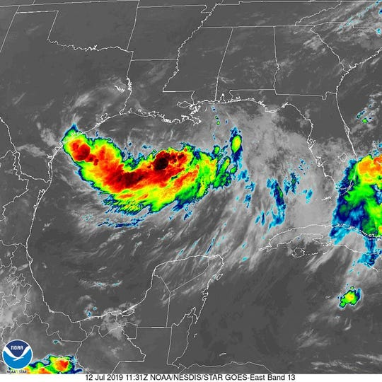 Tropical Storm Barry 8 a.m. July 12, 2019