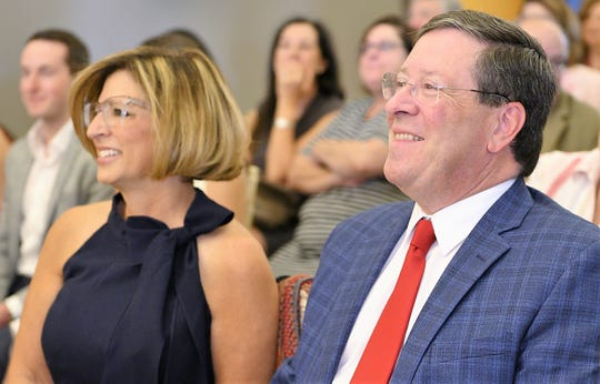 Robin and Tony Furman at a June 24 ceremony, at the Texas Tech University Health Sciences Center El Paso, marking their $540,000 gift to the school.