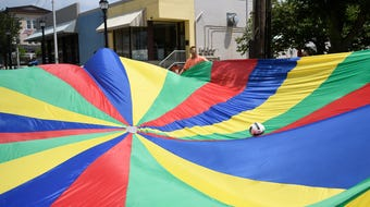 Fun pays a return visit to Downtown Vineland during the summer Play Streets event on Friday.