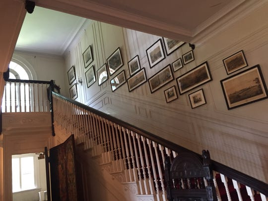 A staircase in the mansion at Westchester County's Merestead park. The mansion was formerly a home of the Sloane family,.