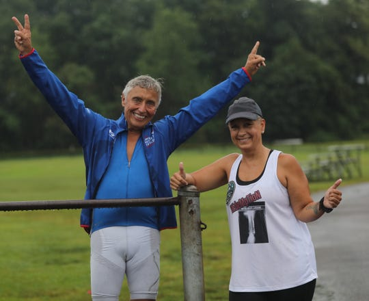 Port Chester's Don Cassone, who dropped 150 lbs, and Yonkers' Laraine Batis-Gelpi, post-reconstructive ankle surgery who will compete in the NYC Triathlon were photographed in White Plains July 11, 2019.