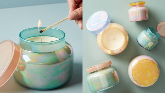 Fruity and light, this Anthropologie candle is great for summer.