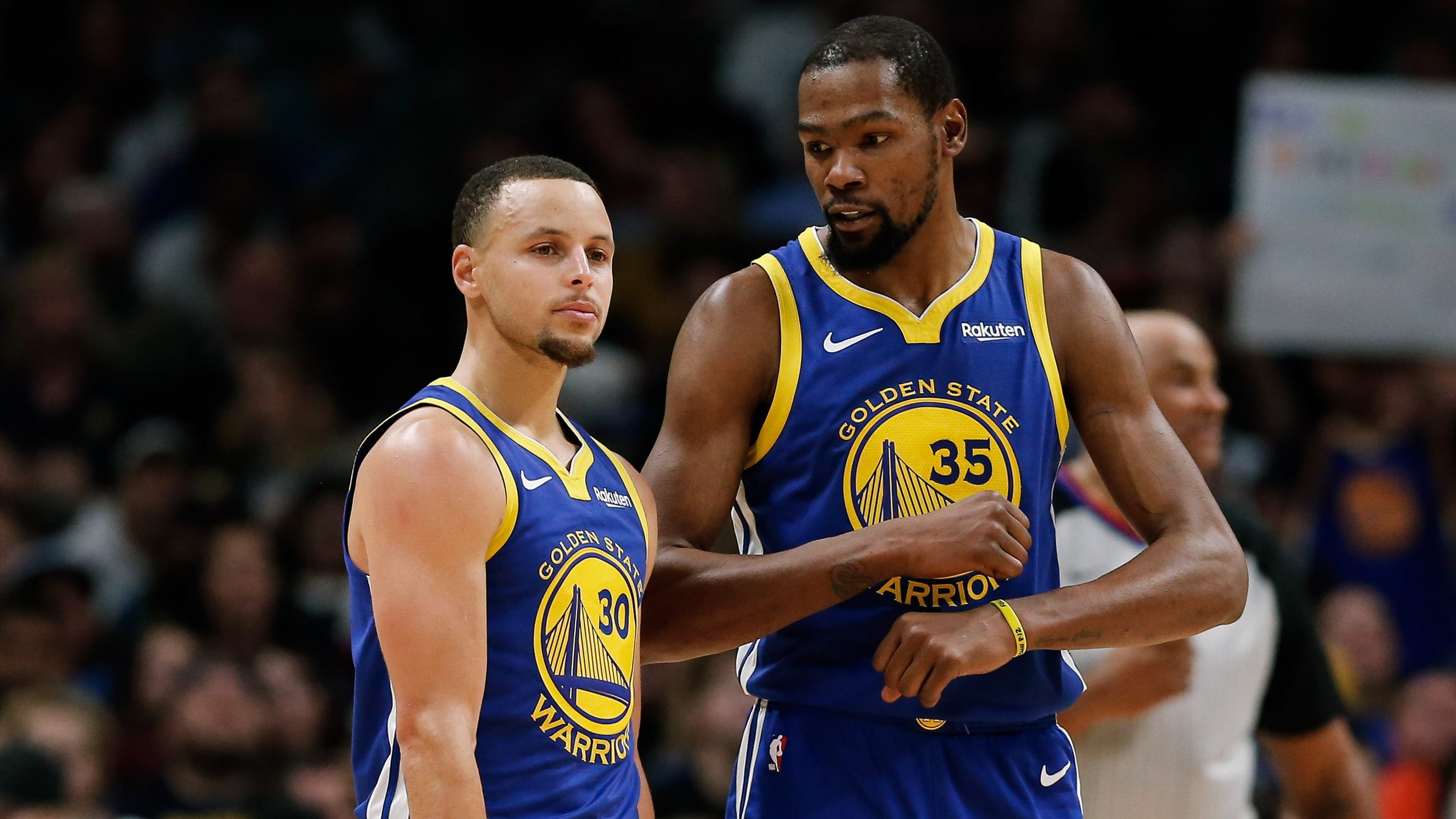 best sneakers 17479 d606e Steph Curry addresses Kevin Durant's departure for first time