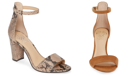An ankle strap + block heel = the shoes of your dreams.