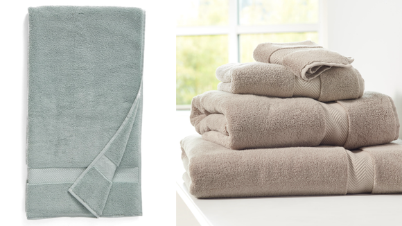 Make your bathroom feel more like a spa with these towels.