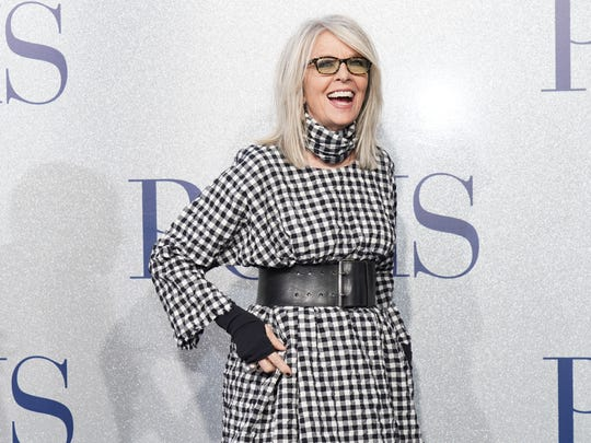 "Diane Keaton at the premiere of ""Poms"" on May 1, 2019 in Los Angeles, California."