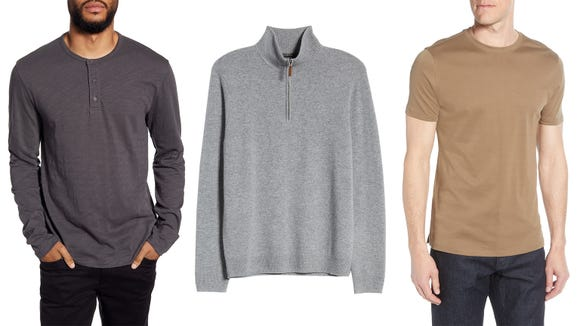 Stock up on men's basic staples.
