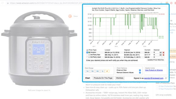 Tools like the Camelizer allow you to see how often and how much things have gone on sale for in the past.
