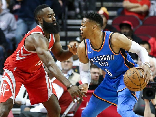 Westlake Legal Group c886e2e7-2026-4057-b303-d2bd9fdfbd66-2019-07-11_Westbrook_Harden Opinion: Russell Westbrook-James Harden pairing probably won't work, but Rockets had no other choice but to try