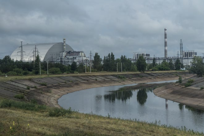The Chernobyl Nuclear Power Plant as seen on on July 2, 2019 in Pripyat, Ukraine.
