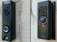 The Skybell Trim Plus and Ring Video Pro are similar in appearance, but offer different features.