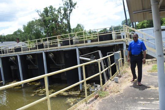Alexandria Mayor Jeff Hall takes a look at the pump on Windermere Blvd. Friday afternoon, July 12, 2019. The City of Alexandria is preparing for the heavy rainfall that may accompany Tropical Storm Barry that is forecasted to turn into a category 1 hurricane and arrive in Central Louisiana late Saturday night.